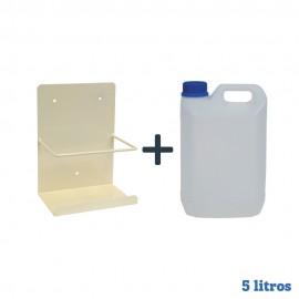 Pack bidon garrafa cinco litros + Soporte pared