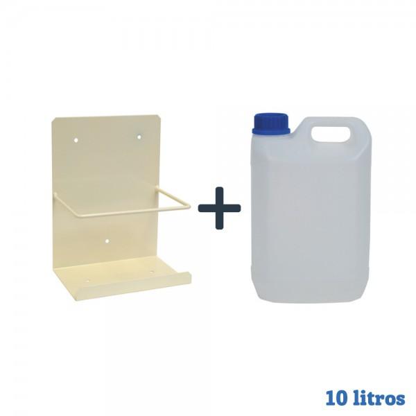 Pack bidon garrafa diez litros + Soporte pared