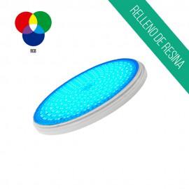Lampara piscina 25W PAR56 de resina RGB