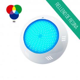 Foco led superficie relleno de resina 25W luz RGB