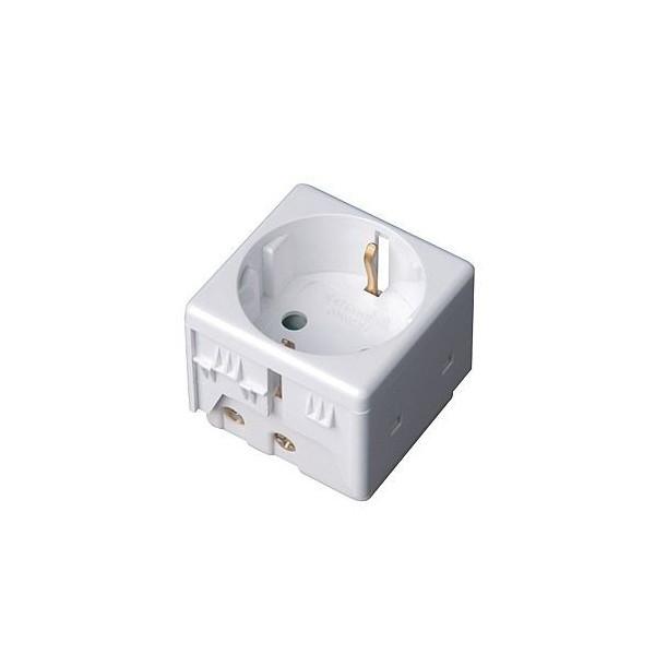 Modulo Base Schuko estanco para caja exterior IP55 16A 250V