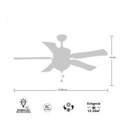 Ventilador de techo con luz Serie Draco