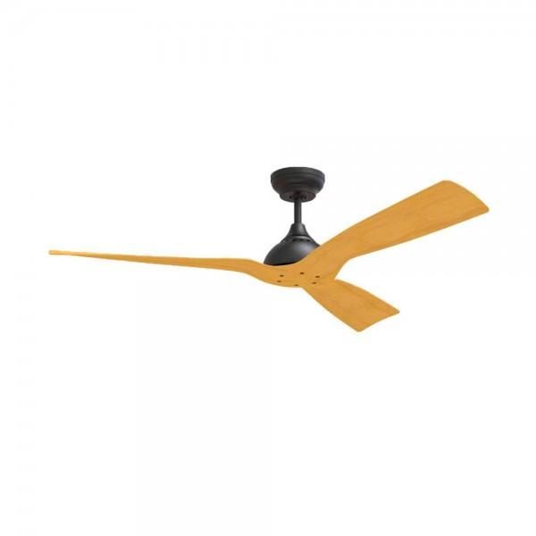 Ventilador de techo DC Sin luz Serie Waterwind IP44 Negro - Madera