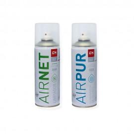 Pack AIRNET + AIRPUR spray limpiador y elimina olores aire acondicionado 400 ml
