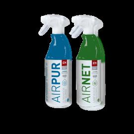 Pack AIRNET + AIRPUR pulverizadores limpiador y elimina olores aire acondicionado 750 ml