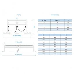 Difusor Lineal SIN PLENUM 2 vías
