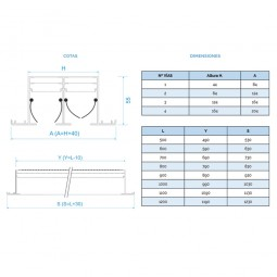 Difusor Lineal SIN PLENUM 4 vías