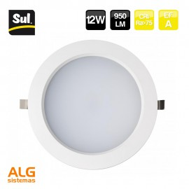 Downlight empotrable led redondo 12W LENECO SUL