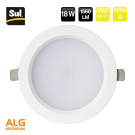 Downlight empotrable led redondo 18W LENECO SUL