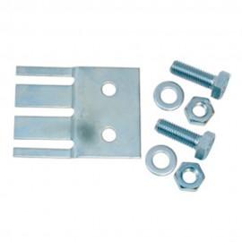 Placa de fijación galvanizada con tornillos