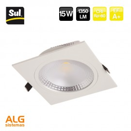 Downlight Led Cob cuadrado 15W IP40 SUL