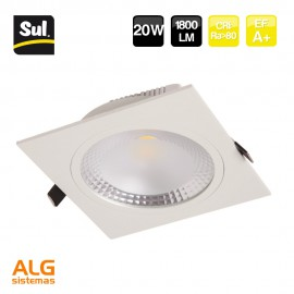 Downlight Led Cob cuadrado 20W IP40 SUL