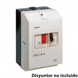 Cofre de plástico para disyuntor (disyuntor no incluido)