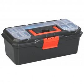 Caja de herramientas de plástico con bandeja extraíble