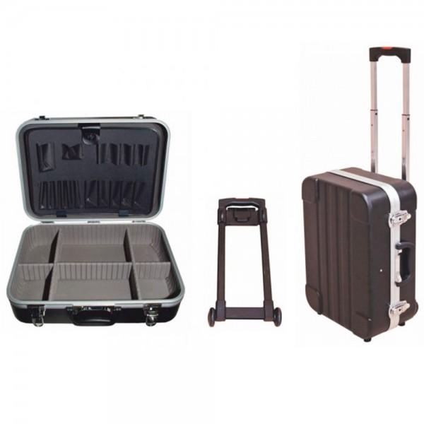 Maleta de herramientas con separadores y carro