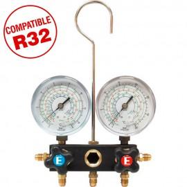 Analizador 2 válvulas Mod. RR130/R32 manómetro Ø63