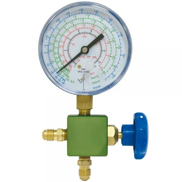 """Manómetros de baja presión para R410A con toma vertical 1/8"""" NPT"""