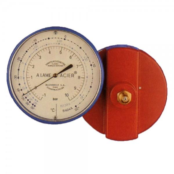 Manómetros de alta presión (1 a 30 bar) glicerina clase1 mod. R22, R134a, R404 y R407C Ø 60