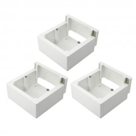 Pack de 3 cajas de superficie enlazable 85x85x42mm