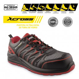 Zapato de Seguridad ultraligeo Xcross S1P fibra de vidrio