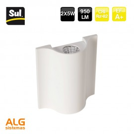 Aplique led de pared 2X5W SUL