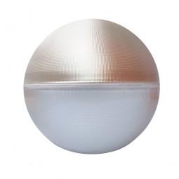 Difusor esférico metacrilato prismático con reflector de aluminio