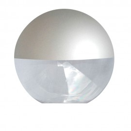 Difusor esférico policarbonato incoloro pintado gris