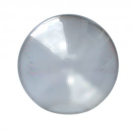 Bola policarbonato prismática incolora con boca