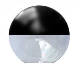 Difusor esférico policarbonato incoloro pintado negro