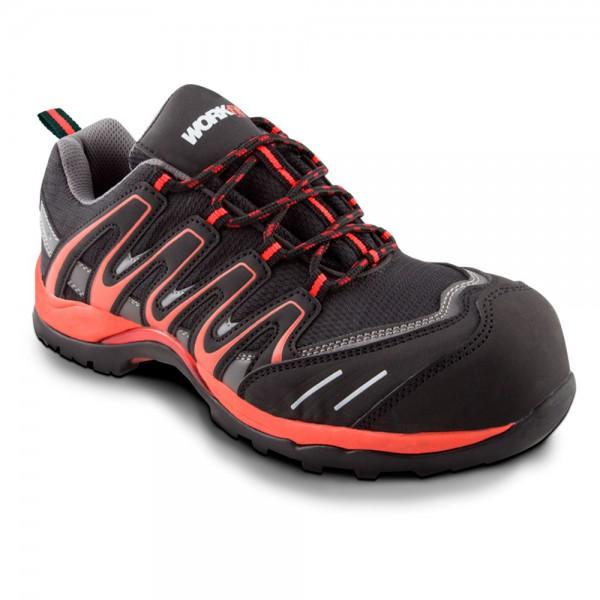 Zapato de seguridad Trail rojo