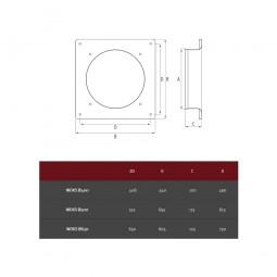 Extractor industrial helicoidal de pared Woks 400
