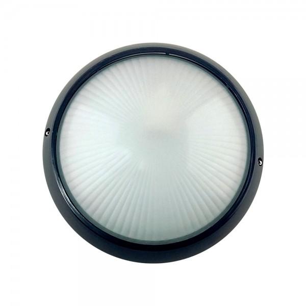 Plafón Estanco IP54 Circular E-27 negro con sensor