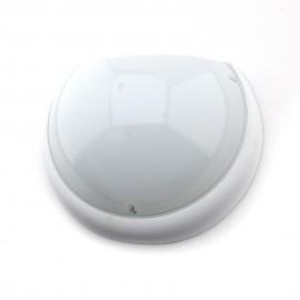 Plafón Media Luna IP54  antivandálico LED 6400K con sensor Blanco