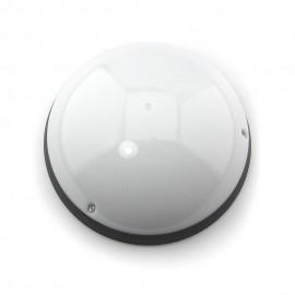 Plafón exterior IP54 Clase II antivandálico Negro E27 con sensor