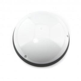 Plafón exterior IP54 Clase II antivandálico Negro LED 6400K con sensor