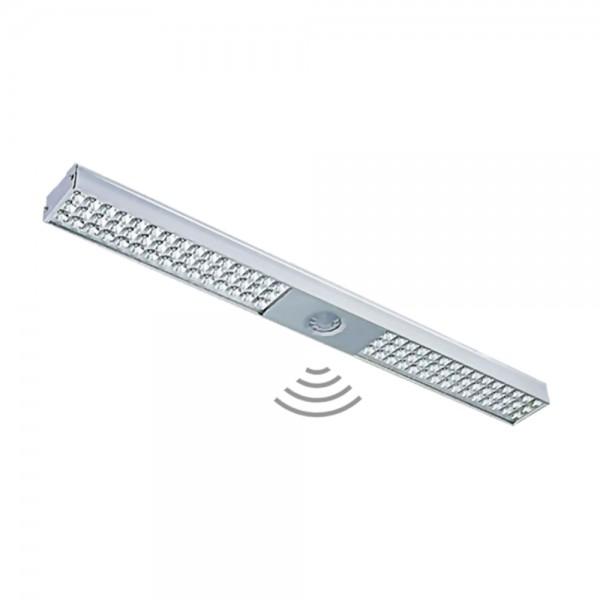 Regleta LED Sócrates níquel con sensor de movimiento 36W
