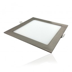 Downlight Empotrable Cuadrado Led Anubis 18W Niquel