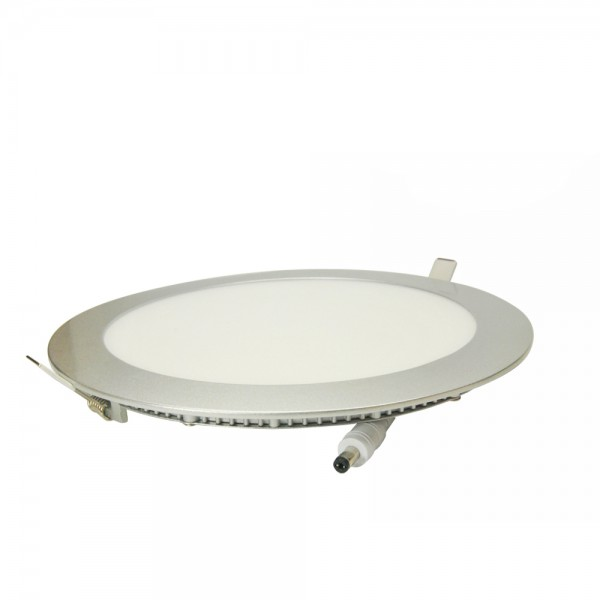 Downlight Led Redondo Ultra Plano Plata 25W