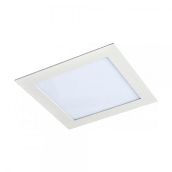 Downlight Empotrable Cuadrado Led Agamenom 18W Blanco