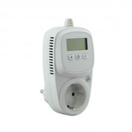 Enchufe termostato electrónico digital.