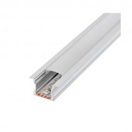 Perfil aluminio high con alas 2m para empotrar