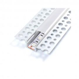 Perfil aluminio Nisen empotrable 12/24V 2m