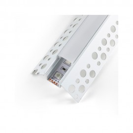 Perfil aluminio Nisen empotrable esquina 12/24V 2m