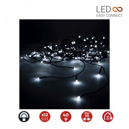 Cortina Led Easy-Connect Blanco Frío 6 tiras