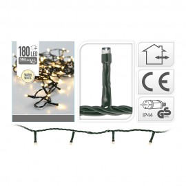 Guirnalda Led fija luz cálida 180 LEDs IP44 16,5m