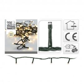 Guirnalda Led fija luz cálida 320 LEDs IP44 27m