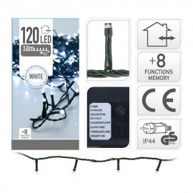 Guirnalda Led tipo espino multifunción  luz fría 400 LEDs IP44 11m