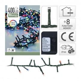 Guirnalda Led tipo espino multifunción multicolor 400 LEDs IP44 11m