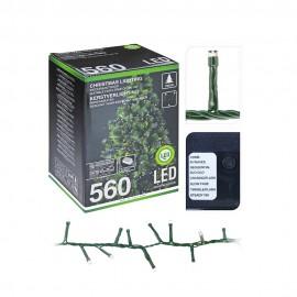 Guirnalda Led tipo espino multifunción  luz fría 560 LEDs IP44 14m