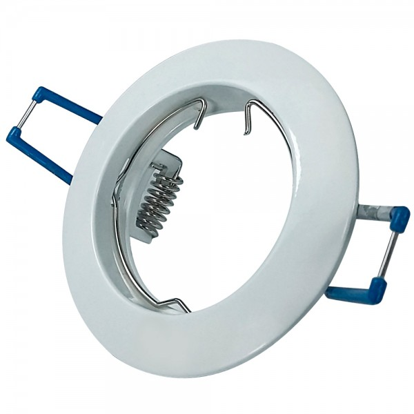 Empotrable Circular Fijo Zamak Blanco